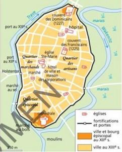 Plánek města Lubeck