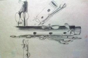 Kresba tužkou, chlapec 15 let