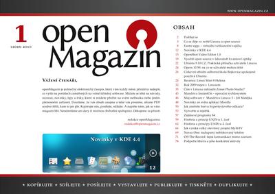 Stahujte openMagazin 1/2010