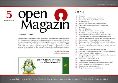 Stahujte openMagazin 5/2010