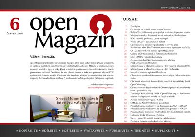 Klepnutím stáhnete PDF openMagazin 6/2010