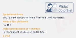 profil pridat do pratel