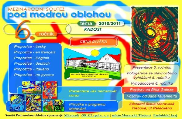 Webové stránky soutěže malování v Malování